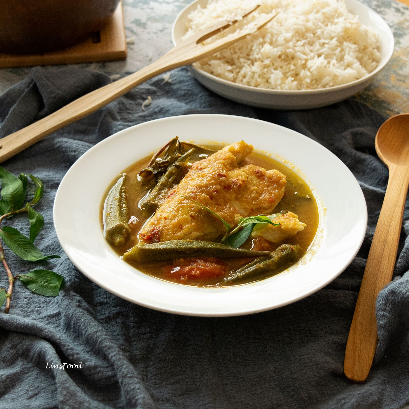 Ikan asam pedas, fish curry