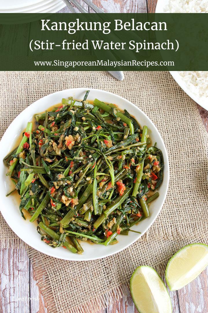 Kangkung belacan recipe photo