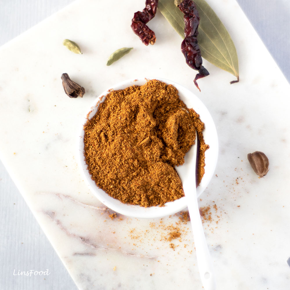Biryani Spice Mix in a white bowl