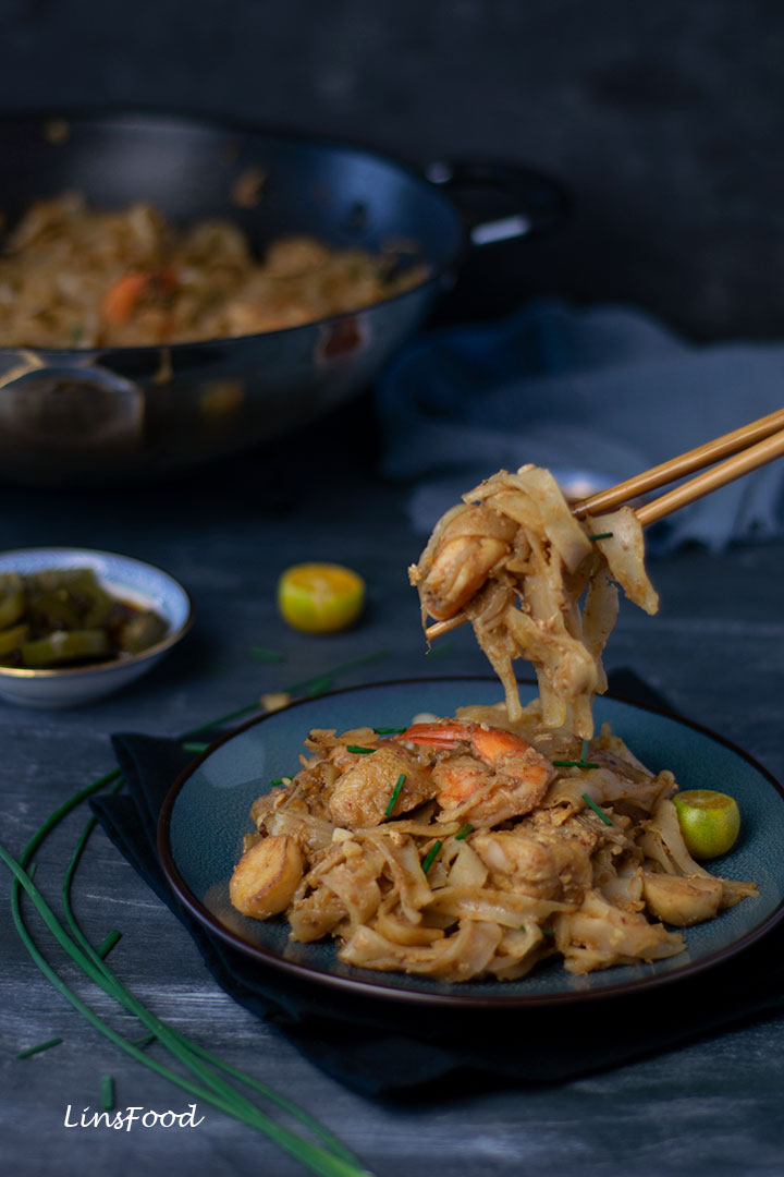 Char Kway Teow with chopsticks